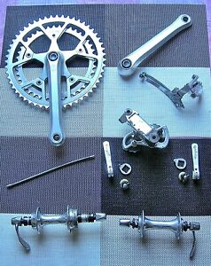 """Campagnolo """"Triomphe"""" group. F/R. mechs levers chainset.hubs brake calipers mint"""