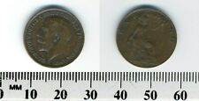 GREAT BRITAIN 1913 -  1 Farthing  Bronze Coin - King George V