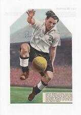 Johnny Morris Derby County 1948-1953 Raro Original autógrafo Revista De Corte