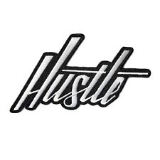 Hustle Hand-Lettered Patch Iron-On or Sew-On Denim Jacket Backpack