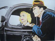 New listing Original art - Dick Tracy And Tess Trueheart - 2019 film noir pulp illustration