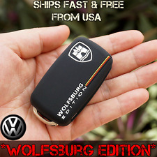 VW Key Fob Case Wolfsburg Edition BLACK Silicone Fast Polo Gti Passat Golf Jetta