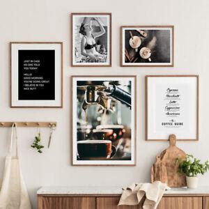 Food Drink Coffee Kitchen Art Poster Canvas Print Restaurant Dining Room Decor