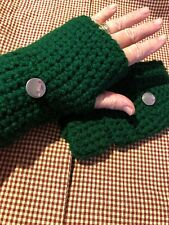 Green Hand Warmers Gloves For Driving Crochet Wear For Work