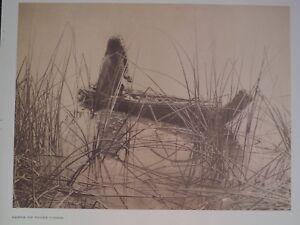 Pomo Indians Canoe of Lake Tules 1972 Original Folio Edward S. Curtis