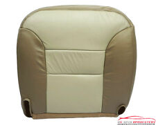2000 Chevrolet Tahoe Z71 4x4 Driver Side Bottom Leather Seat Cover 2-Tone Tan
