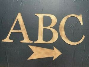 "Large 12"" Gold Alphabet Letters A -Z Rustic Vintage Words Shop Christmas Sign"