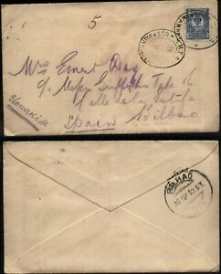 1910 RUSSIA Numbered 200 Railway TPO cancel Cover to Bilbao, Spain