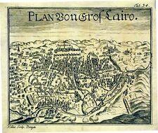 Antique map, Plan von gros Cairo