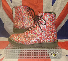 England Vintage*Rare*Fruit Print HAWKINS Boots!*Quirky*Unique*Grunge*Kitsch*UK 7