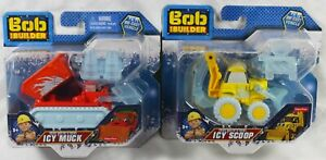 Set of 2: Bob The Builder Icy Muck and Icy Scoop Die Cast Vehicles