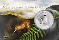 1 OZ Silber KIWI 2007 in Coincard 1 OZ Silber Neuseeland Kiwi in Blister