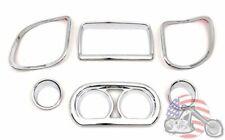 Chrome Inner Fairing Speaker Gauge Screen Trim Harley Road Glide Bagger FLTR