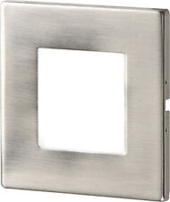 Knightsbridge Stainless Recessed LED Wall Light Single White x1