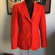 Vintage Pendleton Blazer Red Wool Jacket Women's Office Attire Career