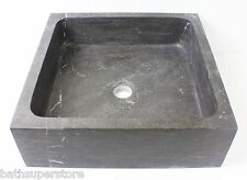 MATTE GREY SINK Solid Stone MARBLE Square NEW Bowl Counter Top Basin Vanity MATT