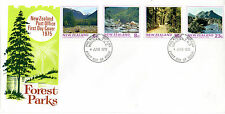 NEW ZEALAND 1975 FOREST PARKS SET OF ALL 4 ON AN ILLUSTRATED FIRST DAY COVER (a)