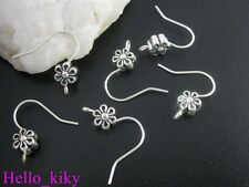 50 pcs Tibetan silver beads earring wire
