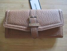 NEW NINE WEST CLUTCH CHECKBOOK WALLET $39 Retail Colorado SLG Truffle Brown Tan