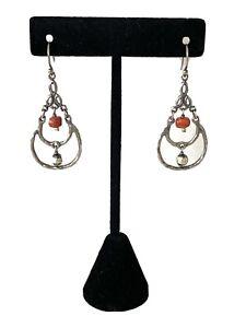 *SILPADA * Sterling Silver CORAL Chandelier Earrings RETIRED!
