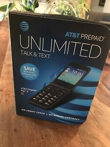AT&T Prepaid Cingular Flip 3 Camera Flip Phone - Black - sealed!