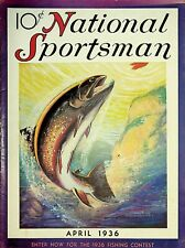 Vintage National Sportsman Magazine April 1936 Hunting Fishing