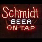 """New Schmidt Beer On Tap Neon Sign Beer Bar Pub Gift Light 17""""x14"""""""