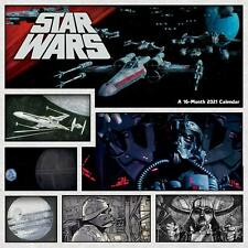 STAR WARS - 2021 WALL CALENDAR - BRAND NEW - 214154
