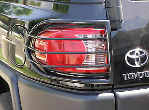 Black Steel Tail Lights Protect Guards Covers for Toyota FJ Cruiser 2007 to 2017