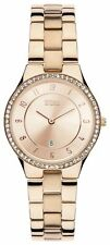 STORM Ladies' Slim X Crystal Rose Gold Plated Watch.