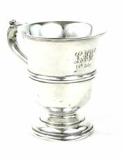 Antico Argento Sterling Battesimo tazza tankard Walker & Hall Sheffield 1915