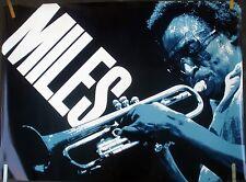 VERY RARE MILES DAVIS 1981 VINTAGE ORIGINAL JAZZ MUSIC RECORD STORE PROMO POSTER