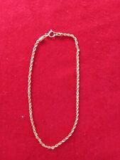 Bracelet or Jaune 750 18K Corde Tressé, 18,5 CM