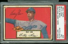 1952 topps #20 Billy Loes PSA/DNA signed Dodgers Autographed card ballpoint auto