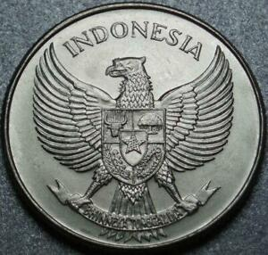"""1955 INDONESIA Choice BRILLIANT UNCIRCULATED """"25 Sen"""" >ONLY Made In 1955 & 1957"""
