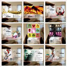 500pcs Transparent plastic Business Card PVC Frosted Print free design 03
