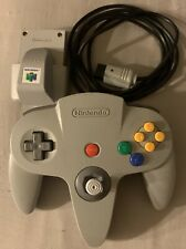 Nintendo 64 OEM Authentic Gray N64 Controller With Rumble Pack Tested