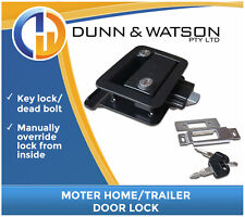 Black Motorhome Paddle Handle Lock / Handle / Latch (Trailer Canopy Caravan )