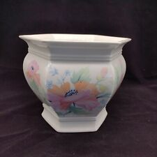 More details for royal winton hexagon planter pink poppy flower house plant pot