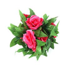 8.2ft Artificial Fake Silk Rose Flower Ivy Vine Garland Wedding Party Home Decor Red