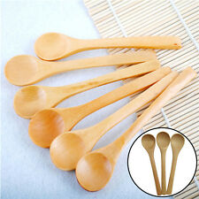6x Set Hot Bamboo Utensil Kitchen Wooden Cooking Tools Spoon Spatula Mixing Best