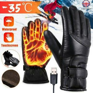 Waterproof Hand Gloves Motorbike Motorcycle Heated Winter Warm Battery Electric