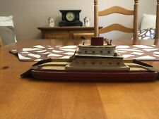 Vintage Wood And Metal Ferry Boat