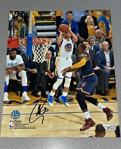 Stephen Curry vs. LeBron James NBA Finals signed 8x10 auto photo (FANATICS COA)
