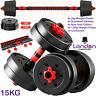 Dumbells Pair of Gym Weights Barbell/Dumbbell Body Building Free Weight Set 15Kg