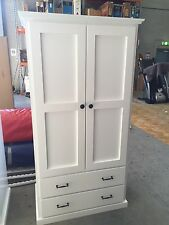 Local Made Custom Wood White Wardrobe
