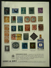 Philately Rare Postage Stamp Booths Gin 1963 1 Page Advert