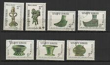 Vietnam 1986 Art bronze époque Hung Vuang série de 7 timbres oblitérés /TR8433
