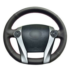 Top Leather Steering Wheel Hand-stitch on Wrap Cover For Toyota Prius 2009-2015