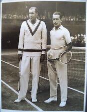 Bill Tilden & Henri Cochet 1929 Wimbledon S-F photo